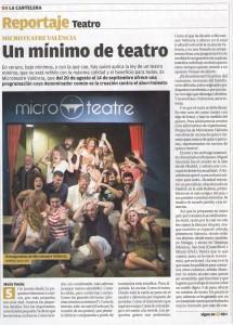 Portada LA CARTELERA del LEVANTE Micro Teatre EL OSO SE ABURRE (1)